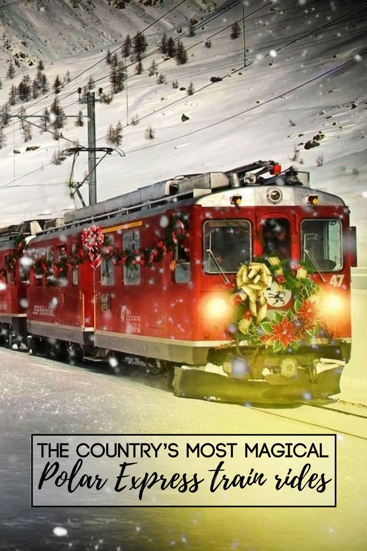 Here's a map of some of the country's most magical Polar Express train rides