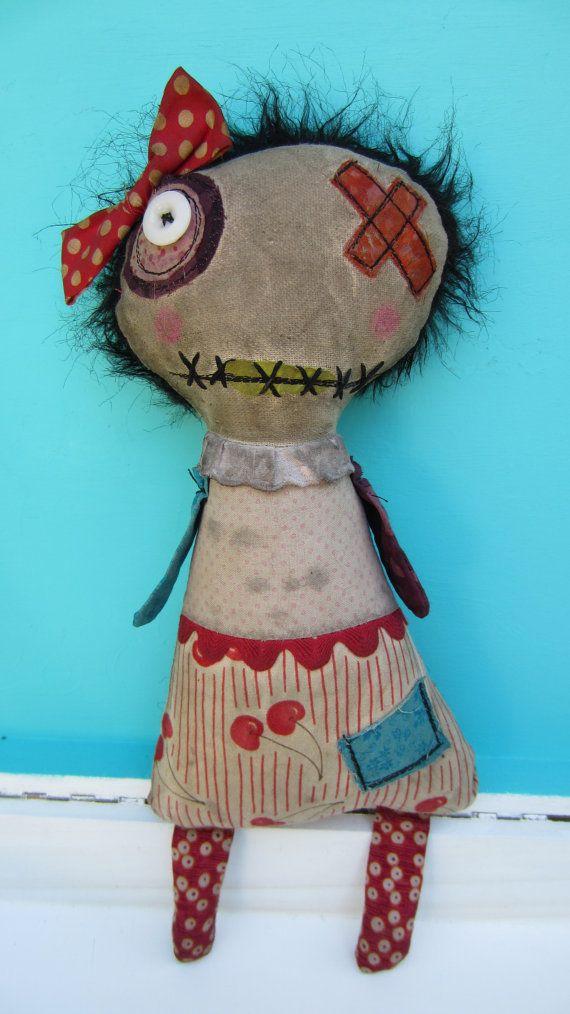 Jackie- Handmade Art Doll