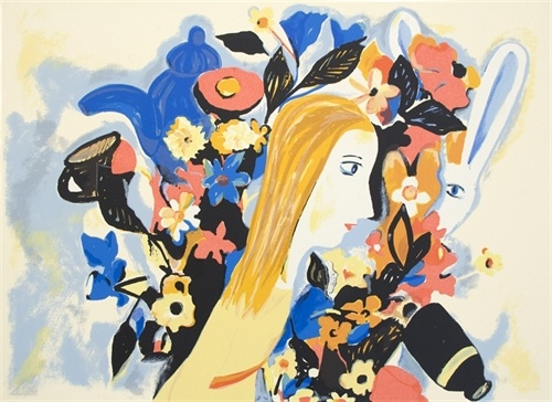 Alice in the Garden by Charles Blackman