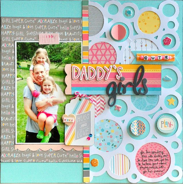 #papercraft #Scrapbook #layout     An American Crafts My Girl collection layout by Jill Cornell.