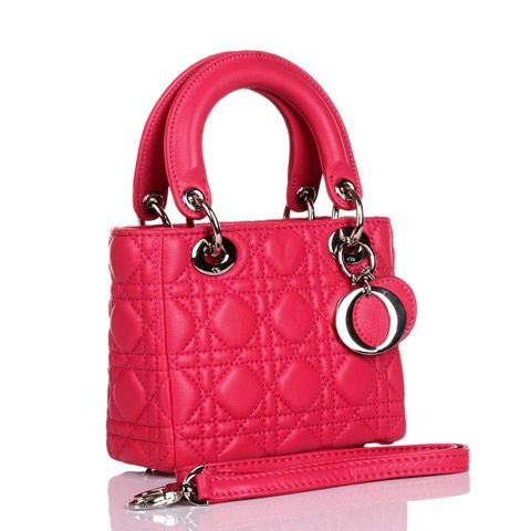 Lady Dior MINI BB Bag With Rose Sheepskin Leather Silver Hardware 8042 /DEUYNIXA