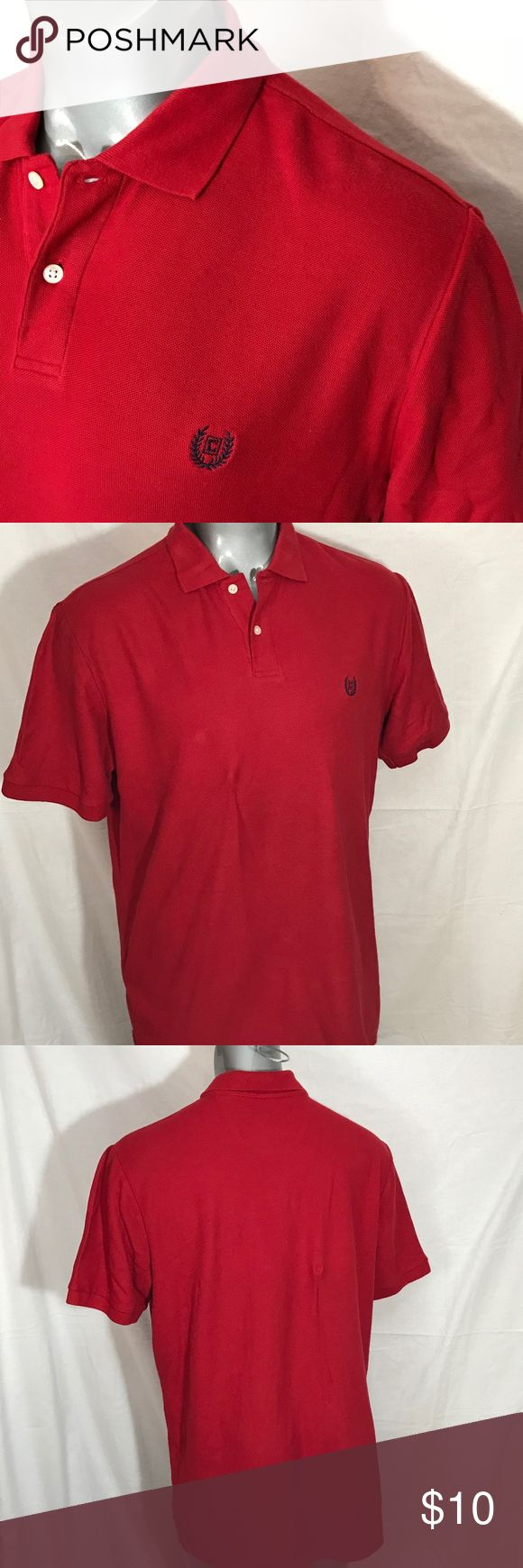 Chaps Men's Short Sleeve Polo Shirt - Large Chaps Men's Short Sleeve Polo Shirt Red Large Gently pre-owned condition - no tears, holes, snags, or stains. A little fading (Please see photos in listing) Chaps Shirts Polos
