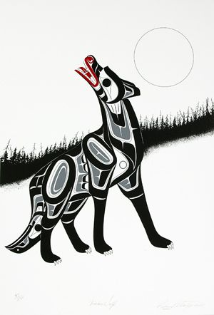Lattimer Gallery - Richard Shorty - Limited Edition Print - Timber Wolf