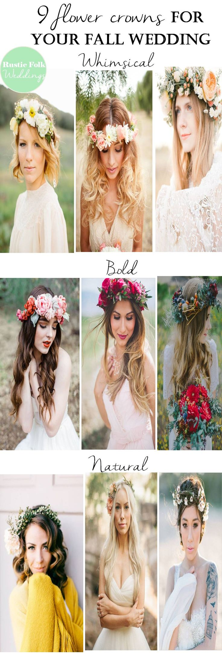 9 Flower Crowns For Your Fall Wedding