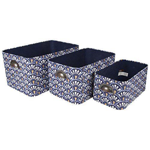 Oval Nested Storage Bins (Set Of 3) (Navy Blue) Raymond Waites Set