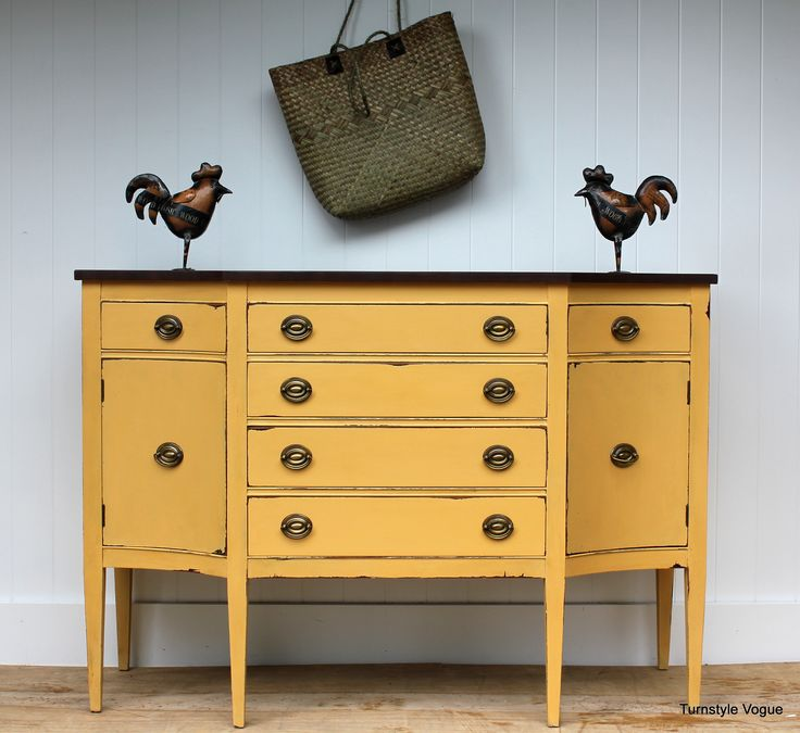(love The Yellow) Chalk Paint   Walnut Stain   Furniture Makeover   Www.