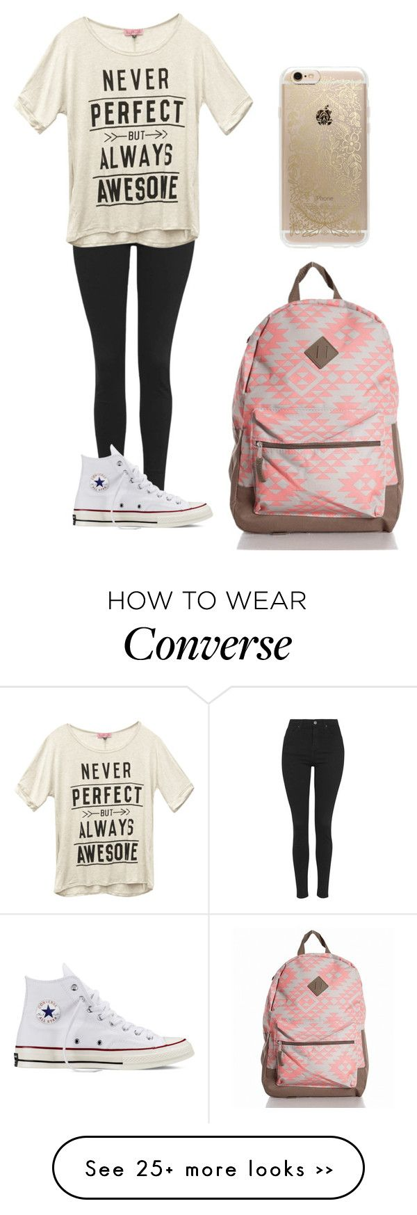 """""""Untitled #231"""" by bav873 on Polyvore featuring Topshop, Wet Seal, Converse and Rifle Paper Co"""