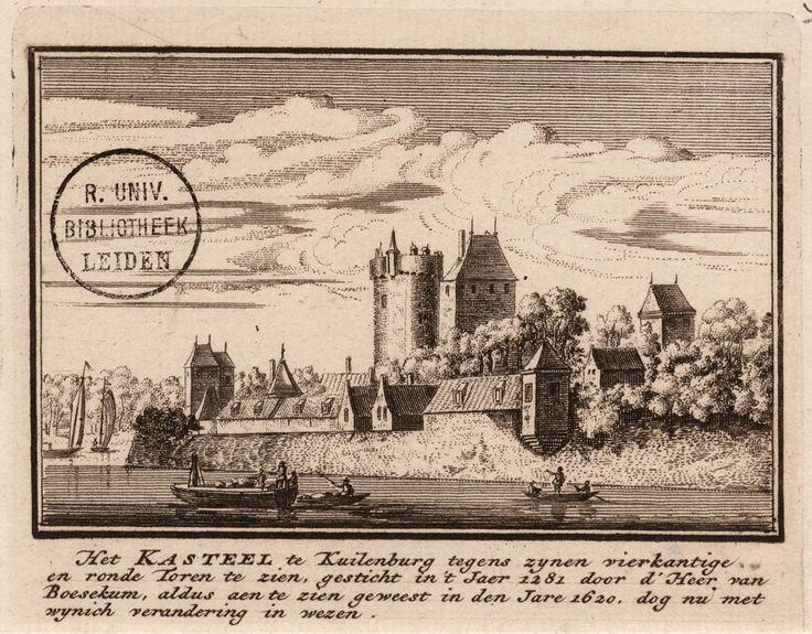 Het kasteel te kuilenburg tegens zynen vierkantige en ronde Toren te zien verandering in wezen
