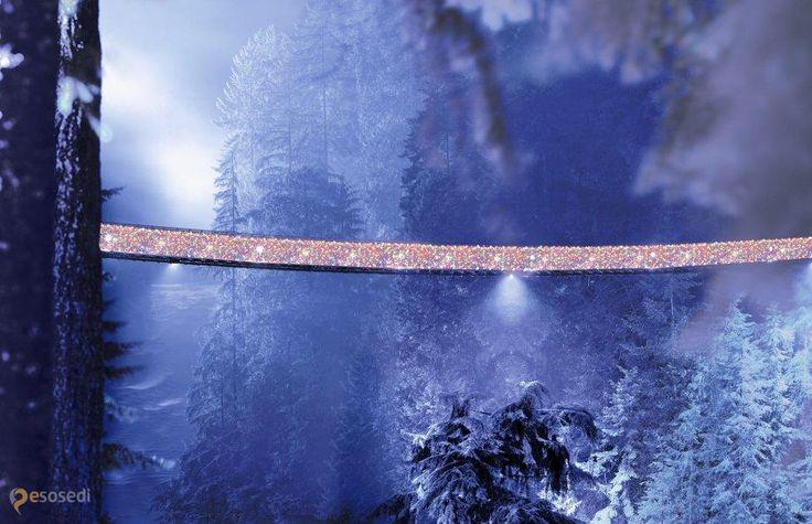 Висячий мост Капилано – #Канада #Британская_Колумбия (#CA_BC) Мост Капилано (Канада), более ста лет назад построенный для удобства работников местной лесопилки, сейчас он принимает более 800 тысяч туристов ежегодно.  ↳ http://ru.esosedi.org/CA/BC/1000067375/visyachiy_most_kapilano/