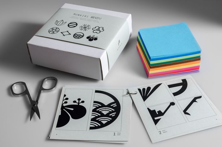 paper instructions and color papers set for our MONKIRI classes
