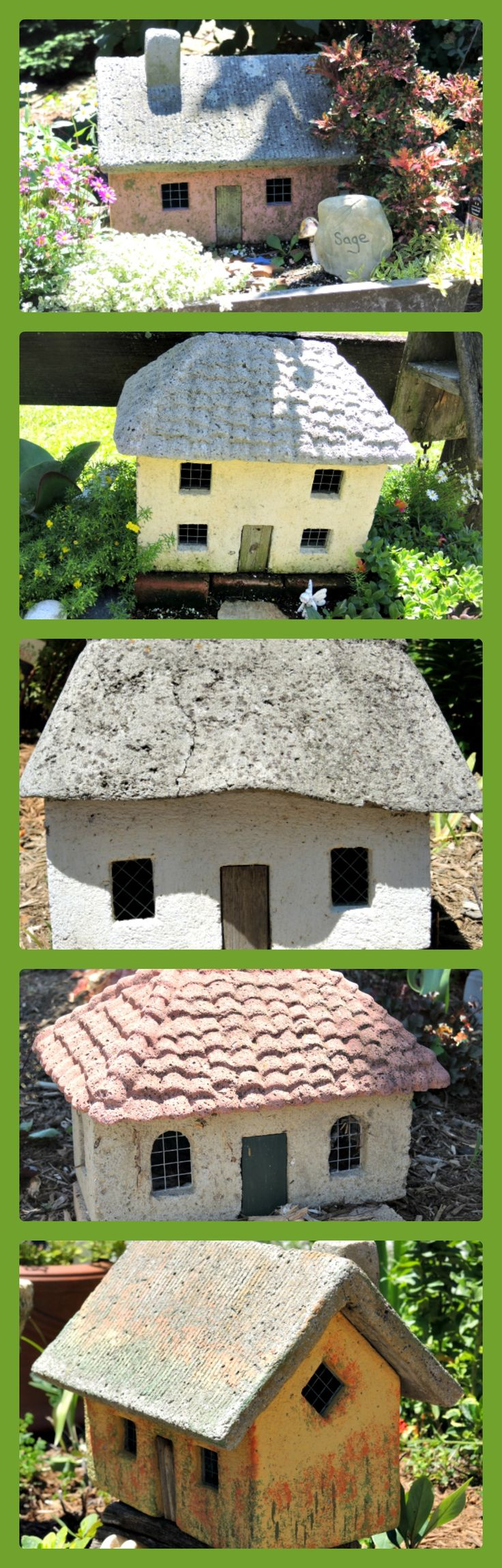 Hypertufa houses http://thegardendiaries.wordpress.com/2014/06/28/escape-to-surreybrooke-a-destination-garden-center/