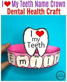 Preschool Dental Health Craft for kids. #toothcraft #dentalhealth #preschool #preschoolworksheets #preschoolcenters