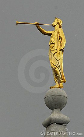 The angel Moroni first appeared on the main spire of the Salt Lake Temple in the early 1890s, became the symbol of the LDS Church, adorns many of the LDS temples main spire around the world.