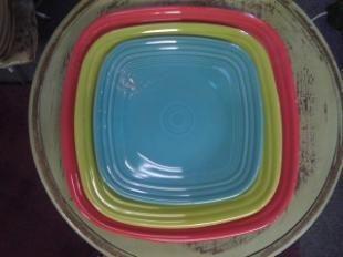 3 sizes of Square Fiesta® dinnerware plates   Fiesta Heaven & 140 best Fiesta® / Homer Laughlin China: Square Fiesta® images on ...