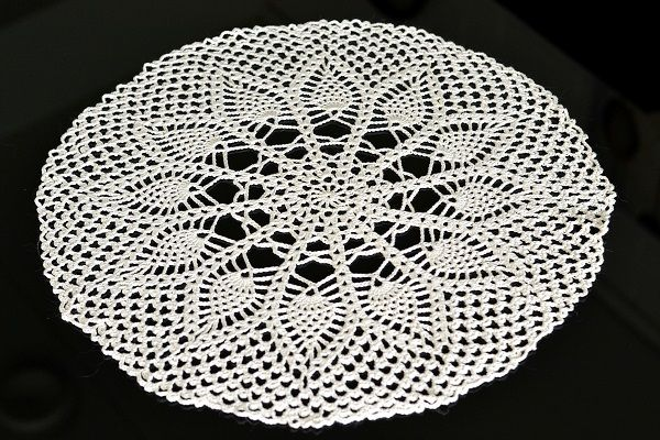My first crocheted doily.
