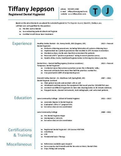 rdh resume sample