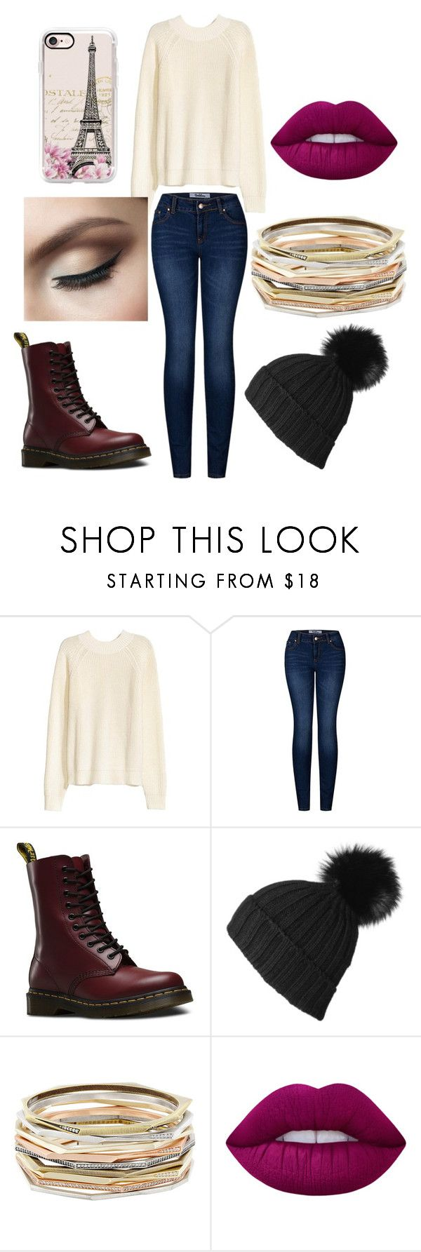 """""""Want to Slay 😍😍"""" by kayla-allaire on Polyvore featuring 2LUV, Dr. Martens, Black, Kendra Scott, Lime Crime and Casetify"""