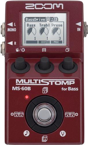 ZOOM MS-60B MultiStomp Bass Pedal. PEDAL MULTI-EFECTOS DE SUELO PARA BAJO . - Audiotronics.es