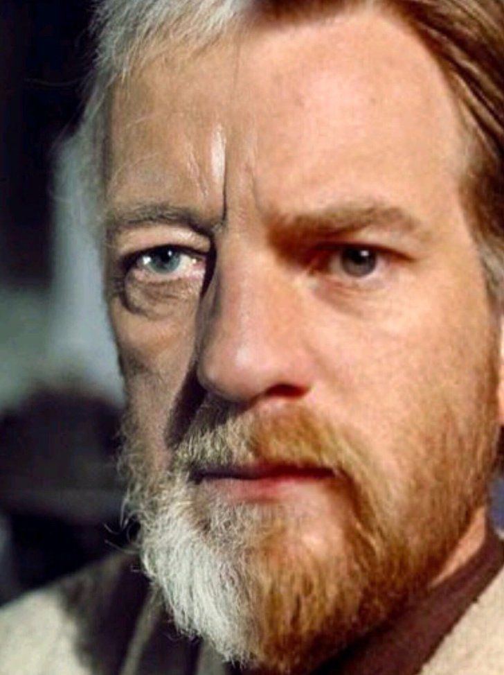 Alec Guiness/ Ewan MacGregor<< wow talk about good casting.