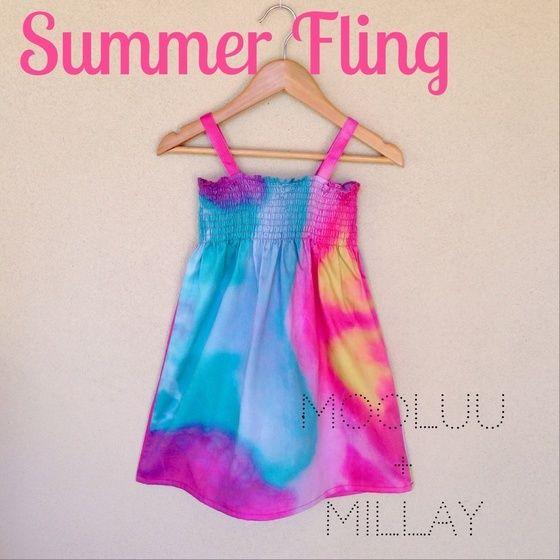 Image of MOOLUU + MILLAY PREORDER SUMMER FLING DRESS TROPICAL TANG