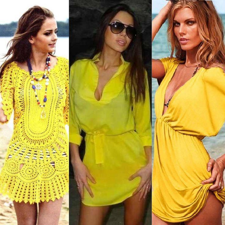 Желтые туники : модный яркий желтый цвет или луки с туникой