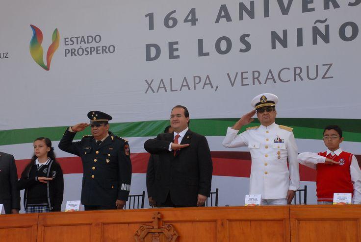 El mandatario durante la ceremonia cívica por el 164 aniversario de la Batalla de los Niños Héroes de Chapultepec  invitó a todos los veracruzanos a festejar el orgullo de ser mexicanos en las celebraciones cívicas de estos días