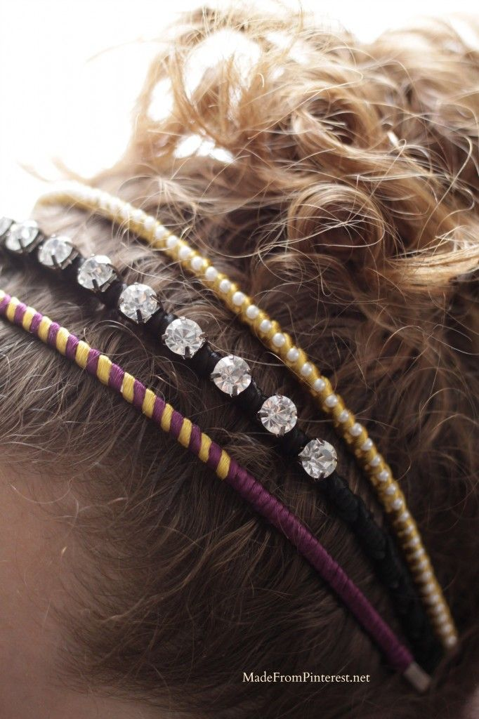 20's Inspired Headband Tutorial - use all white or ivory for a #wedding #hairstyle