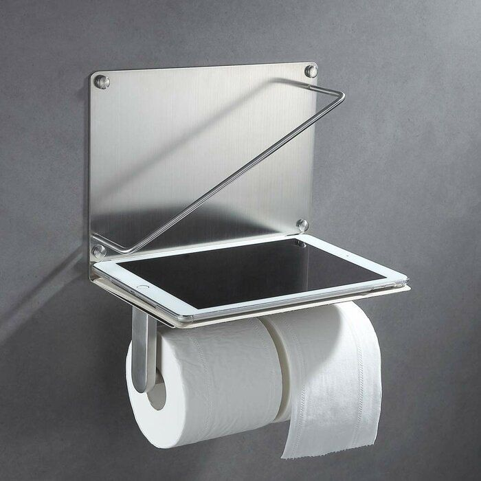 Wall Mount Toilet Paper Holder With Phone Shelf Toilet Paper Holder Recessed Toilet Paper Holder Wall Mounted Toilet