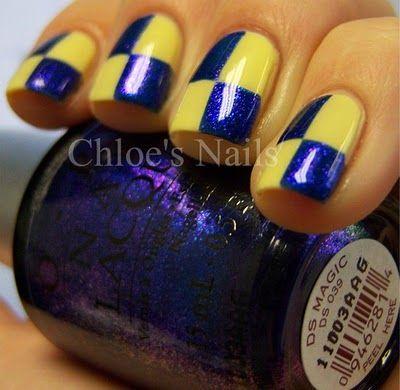 Maize & Blue Nails! Go BLUE!