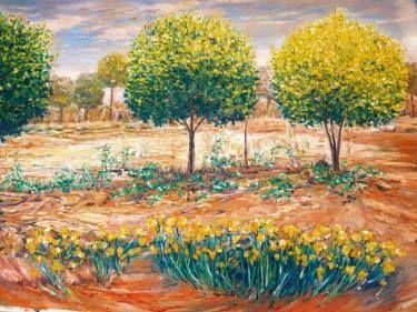 "Saatchi Art Artist Anna Kefaloyianni; Painting, ""Jardin de printemps"" #art"
