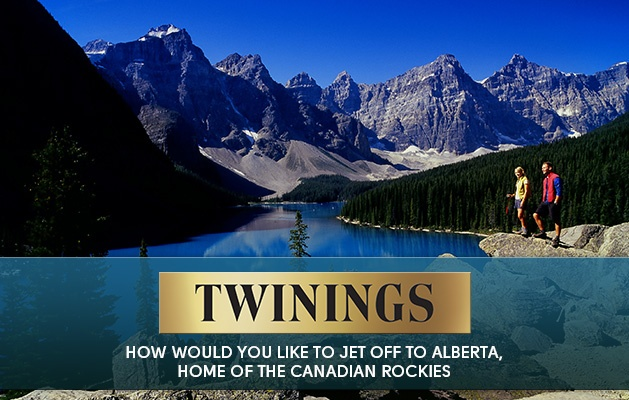 Win a Tea inspired trip to Alberta, home of the Canadian Rockies