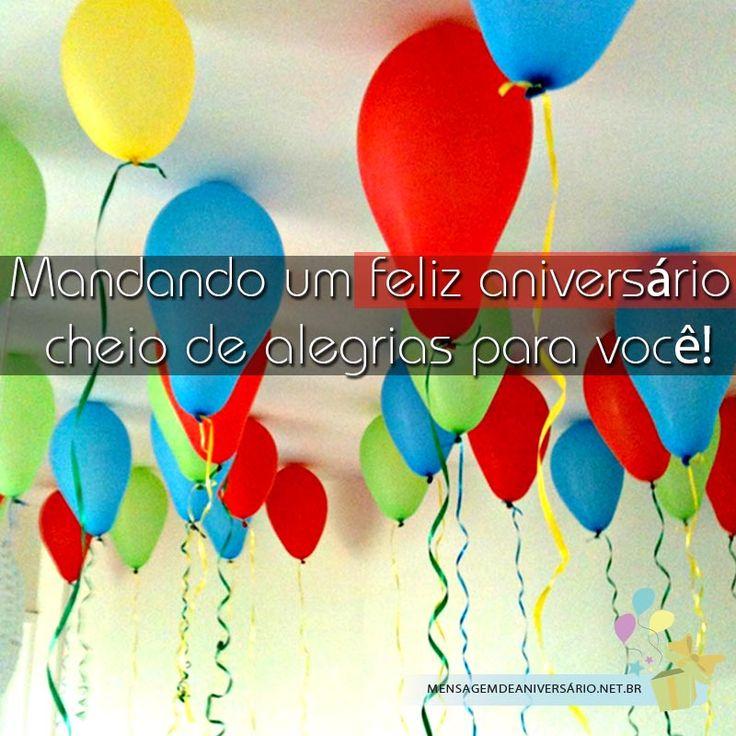 Mandando um feliz aniversário para você!