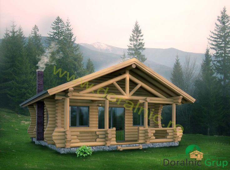 Proiect Doralnic 6 Case din busteni -  Cabane din lemn
