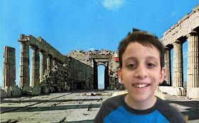 In 6th grade, we've been playing around with Photoshop apps on our ipads.  Students superimposed their selfies onto ancient sites, like th...