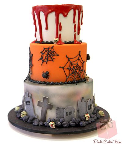 halloween wedding cake halloween cakes - Halloween Decorated Cakes