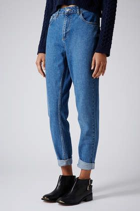MOTO Vintage Wash Mom Jeans - Jeans - Clothing