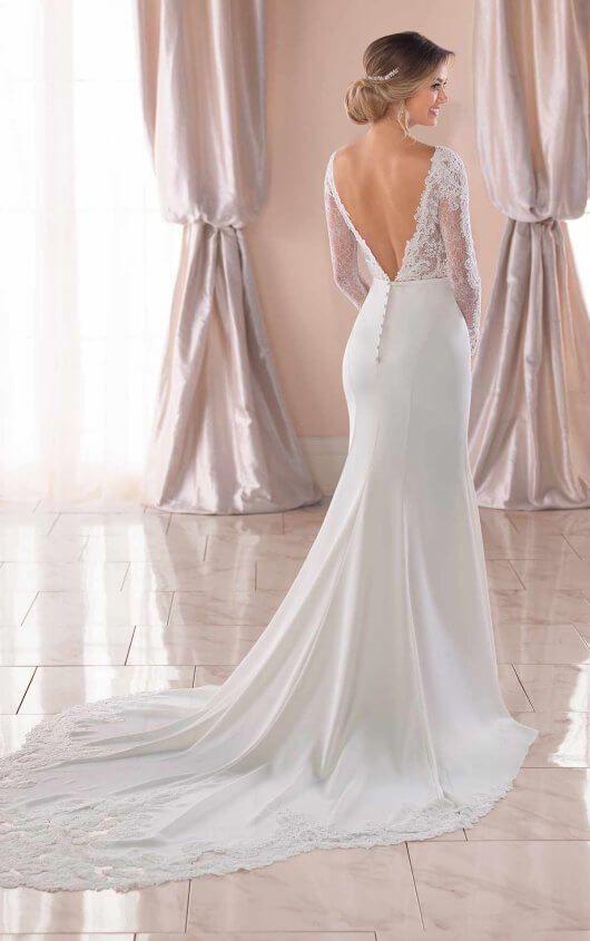 Long-Sleeved Wedding Dress with Train – Stella York Wedding Dresses