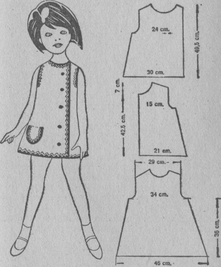 vestido niña retro