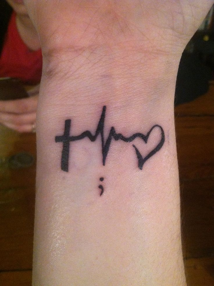 Hope Tattoos Ideas: Faith, Hope, And Love With A Semi Colon Meaning You Could