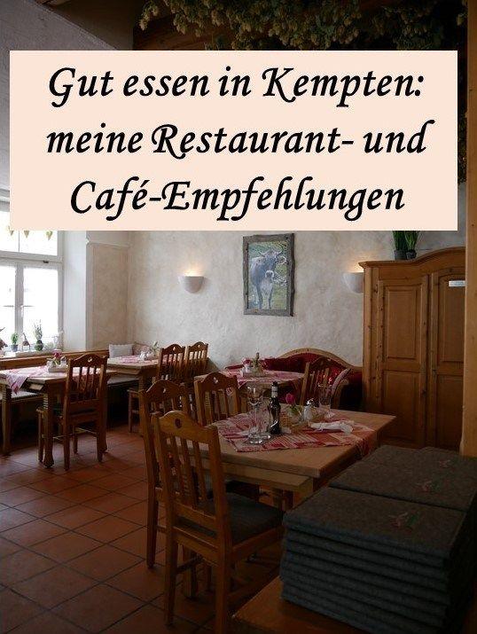 Gut essen in Kempten - die besten Restaurants und Cafés, alle Gastronomietipps sind persönlich getestet