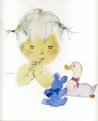 Water color painting by Chihiro Iwasaki, Japanese female artist