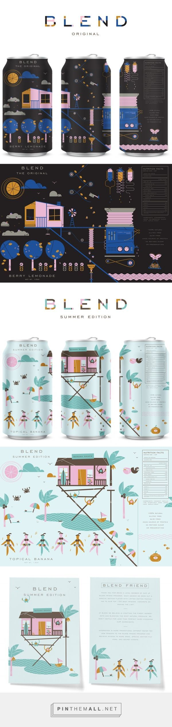 Blend Beverage Packaging by Sydney Goldstein | Fivestar Branding Agency – Design and Branding Agency & Curated Inspiration Gallery
