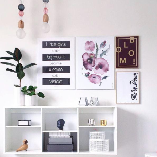 Vores Limited edition plakat, bloomie, giver lidt farve til den hvide væg! #Limitededition poster #Bloomie #Livink