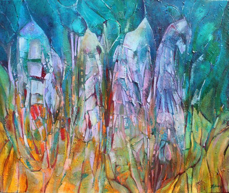 Mokradła VII, 100x70cm,oil on canvas,2011, Barbara Hacura