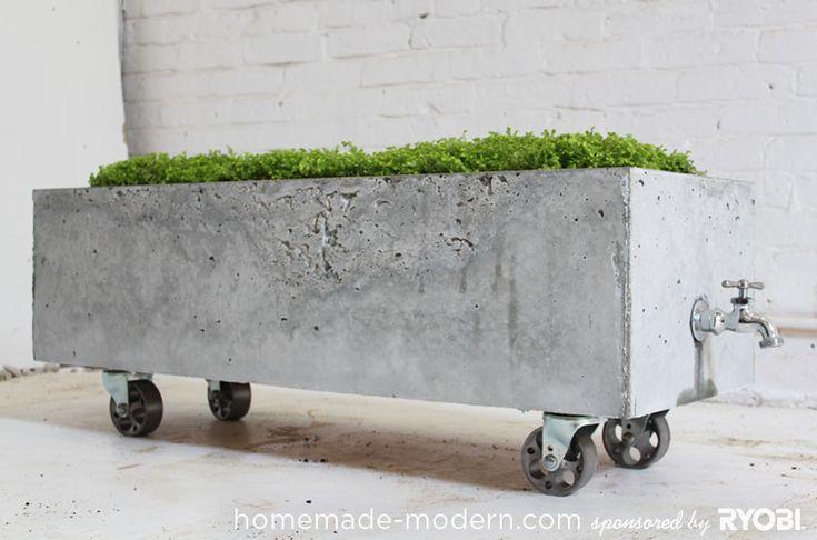 Een prachtige zelfgemaakte betonnen bloembak voor in de tuin(Handleiding)