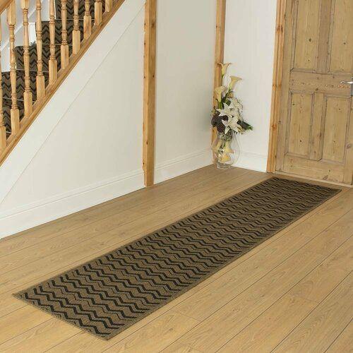 Mercury Row Andres Flatweave Dark Brown Rug Außenteppich Große | Wayfair Carpet Runners For Stairs | Tucker Murphy | Brown Beige | Hallway Carpet | Wool Rug | Wall Carpet