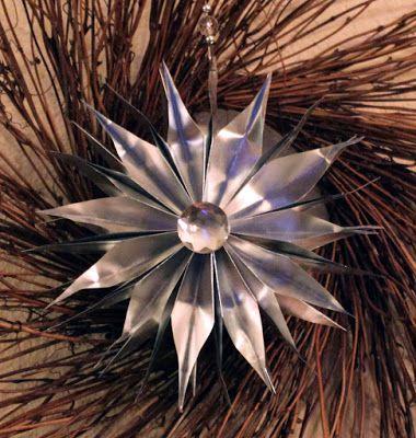 Foil stars for Christmas... Stern von Bastelfolie fuer Weihnachten