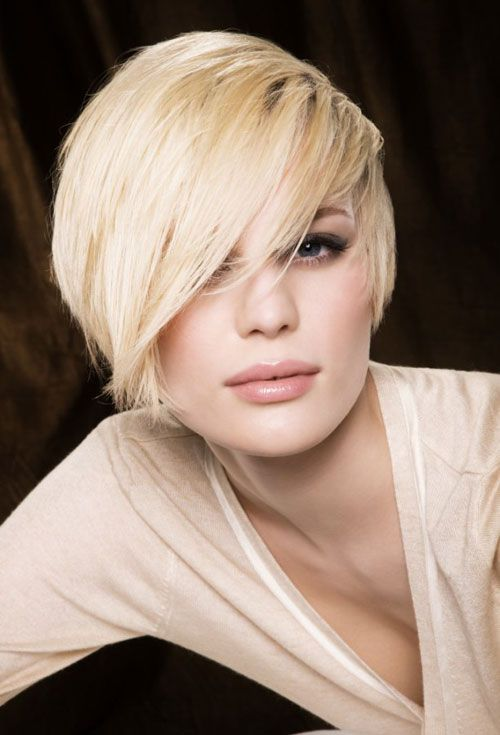 Short Hairstyles With Long Bangs Entrancing 54 Best Short To Medium Hairstyles Images On Pinterest  Make Up