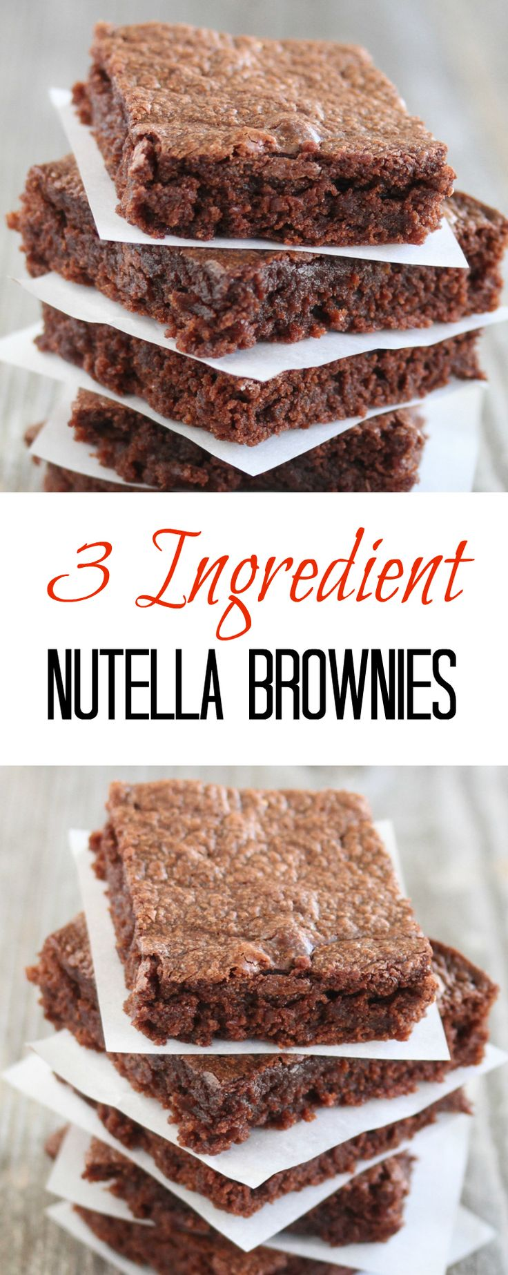 Fácil de 3 Ingrediente Nutella Brownies | de Kirbie Cravings | Um alimento & Travel Blog San Diego