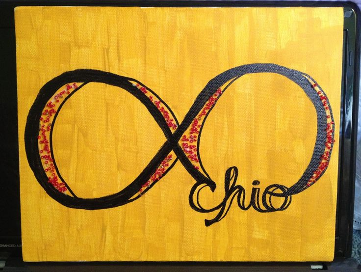 chi omega canvas with beads